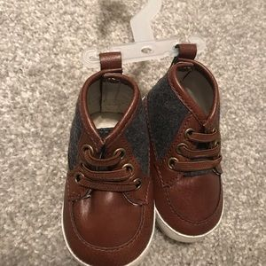 Baby boy brown dress shoes